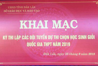Học sinh trường THPT Nguyễn Bỉnh Khiêm tham gia Kỳ thi lập đội tuyển dự thi học sinh giỏi quốc gia lớp 12 năm học 2018-2019