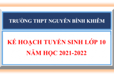 Kế hoạch tuyển sinh lớp 10 năm học 2021-2022