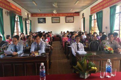Hội nghị cán bộ, công chức, viên chức, người lao động và Công đoàn Trường THPT Nguyễn Bỉnh Khiêm năm học 2018-2019