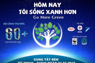 """Đoàn Trường THPT Nguyễn Bỉnh Khiêm tham gia hoạt động hưởng ứng """"Giờ trái đất"""""""