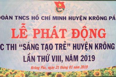 """Lễ phát động cuộc thi """"Sáng tạo trẻ"""" huyện Krông Pắc lần thứ VIII năm 2019"""