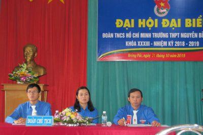 Đại hội Đại biểu Đoàn Trường THPT Nguyễn Bỉnh Khiêm khóa XXXIII-Nhiệm kỳ 2018-2019